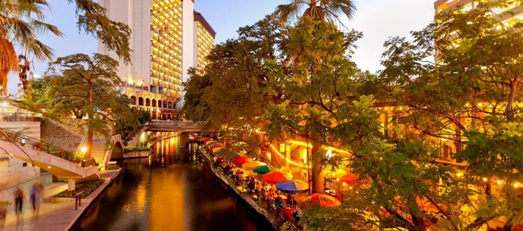 The River Walk at sunset