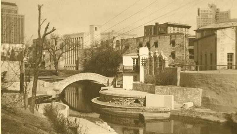 Vintage photo of the Arneson River Theatre