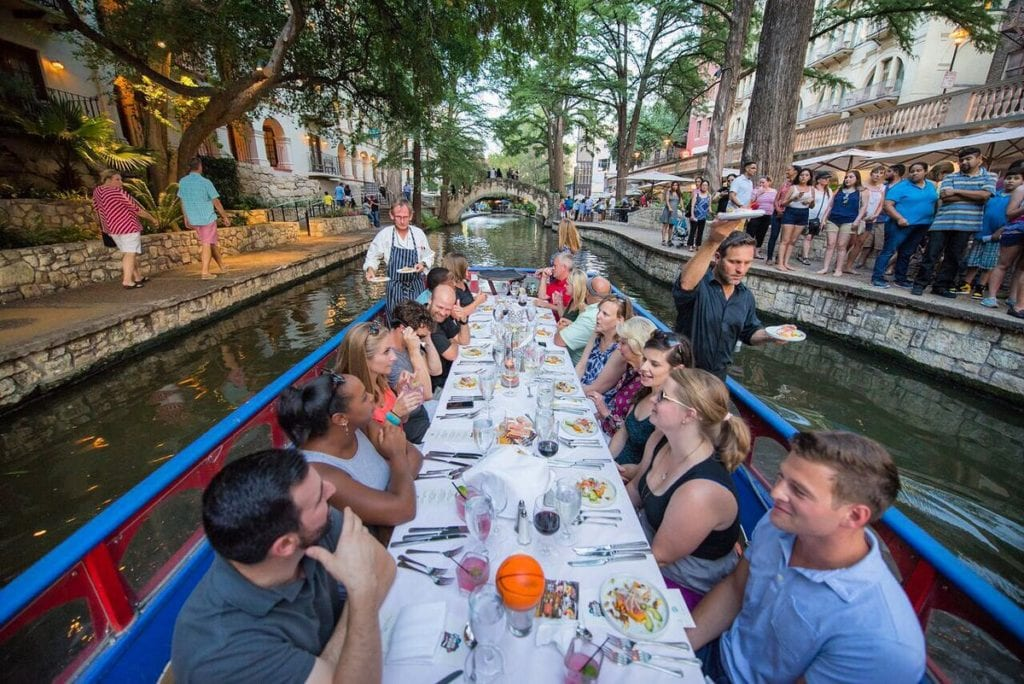 Dinner on a river boat by Biga on the Banks