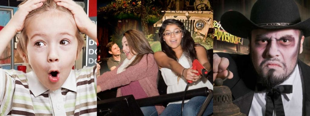 Photos of three Ripley's Entertainment attractions