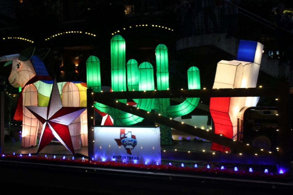 Ford Best in Texas paper lantern river float