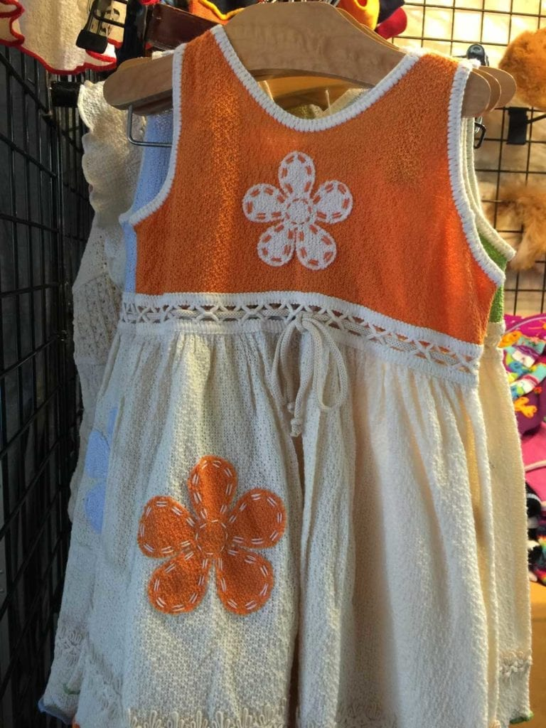 A dress at the Fourth of July Artisan Show