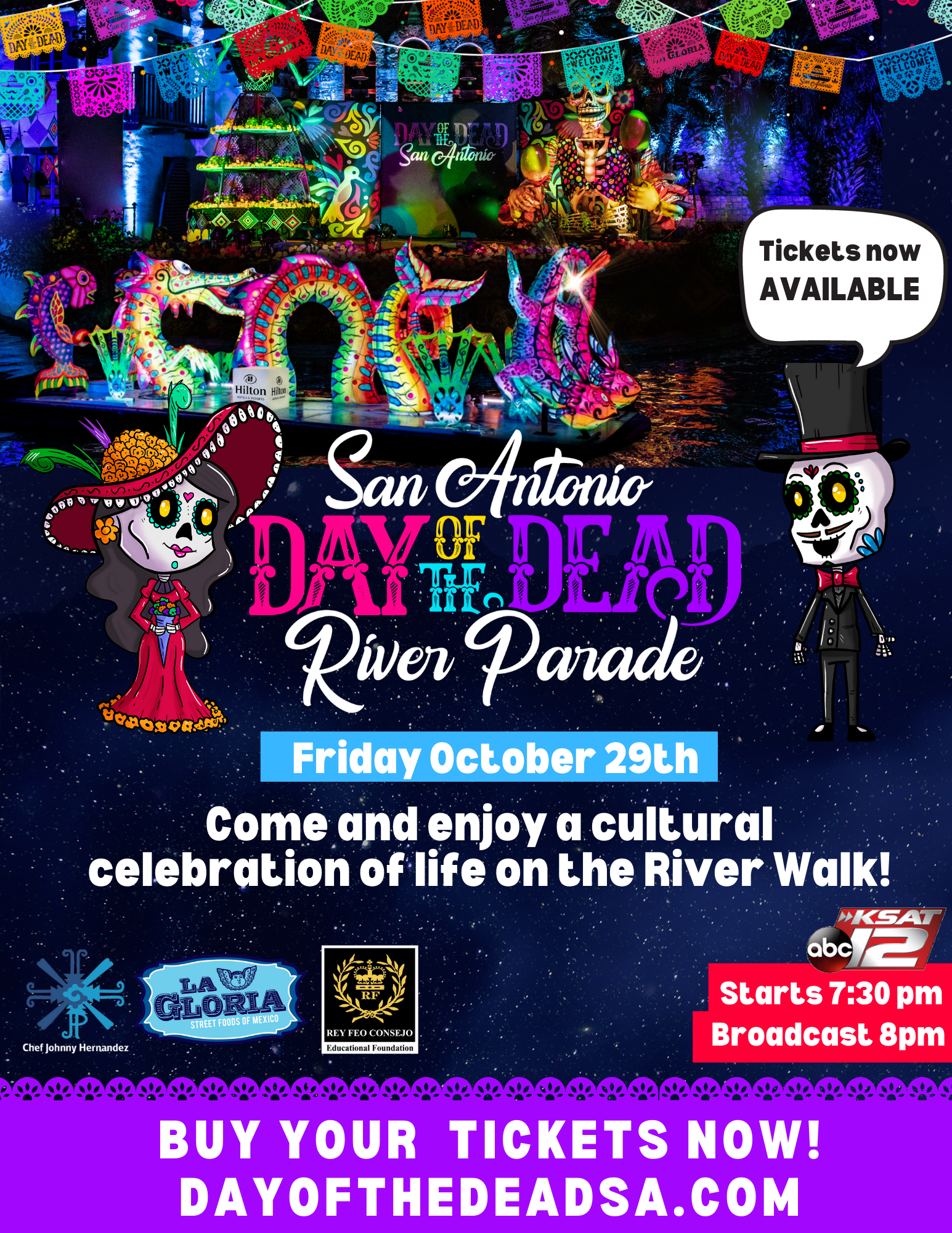 Day of the Dead Parade Ticket Sales